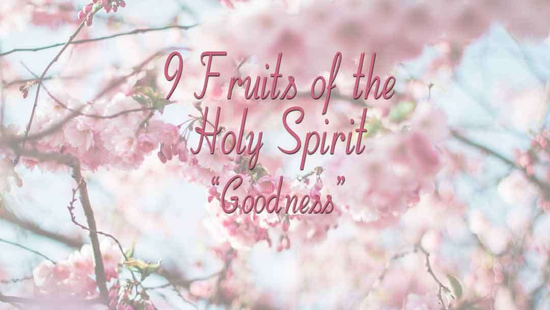 9 Fruits Of The Holy Spirit - Goodness